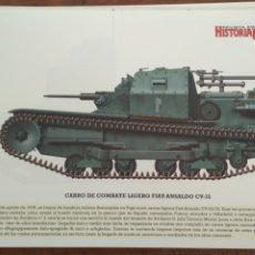 Militaria: LAMINA FICHA MILITAR CARRO DE COMBATE LIGERO FLAT-ANSALDO CV-35. Lote 199685426