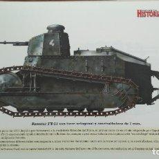 Militaria: LAMINA FICHA MILITAR RENAULT FT-17. Lote 199685435