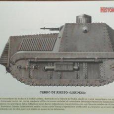 Militaria: LAMINA FICHA MILITAR CARRO DE ASALTO LANDESA. Lote 199685565