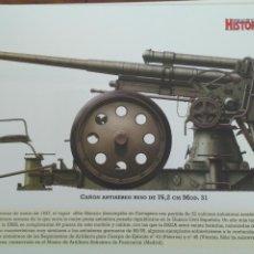 Militaria: LAMINA FICHA MILITAR CAÑON ANTIAEREO RUSO DE 76,2CM . Lote 199685666