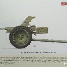 Militaria: LAMINA FICHA MILITAR CAÑON CONTRACARRO . Lote 199685858