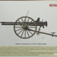 Militaria: LAMINA FICHA MILITAR CAÑON CONTRACARRO DE 37MM MAC LEAN. Lote 199685897
