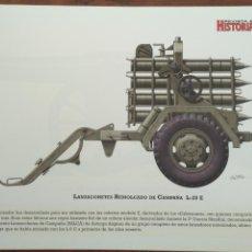 Militaria: LAMINA FICHA MILITAR LANZACOHETES REMOLCADO DE CAMPAÑA L-20 E. Lote 199686000