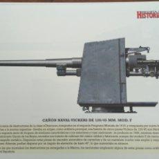 Militaria: LAMINA FICHA MILITAR CAÑON NAVAL VICKERS . Lote 199686027