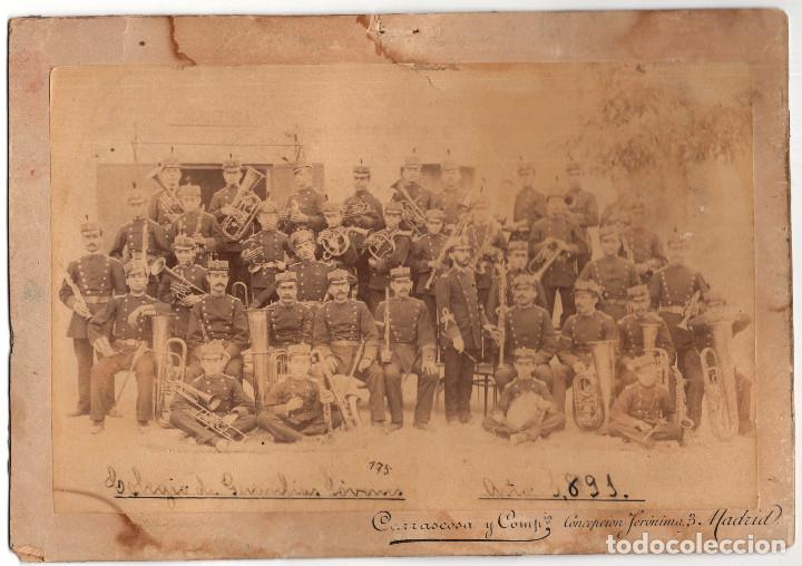 MADRID.- GUARDIA CIVIL.- COLEGIO GUARDIAS JOVENES. 1891. 23X16. (Militar - Fotografía Militar - Otros)