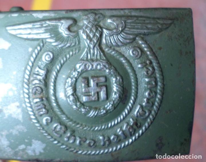 Militaria: Cinturón 2ª GM – SS .. Hebilla marcajes (ver fotos) - Foto 5 - 45462684