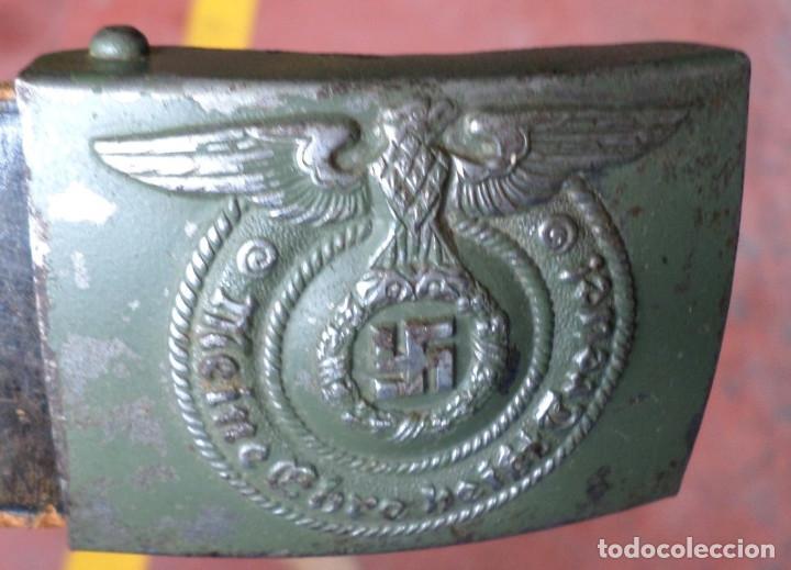 Militaria: Cinturón 2ª GM – SS .. Hebilla marcajes (ver fotos) - Foto 6 - 45462684