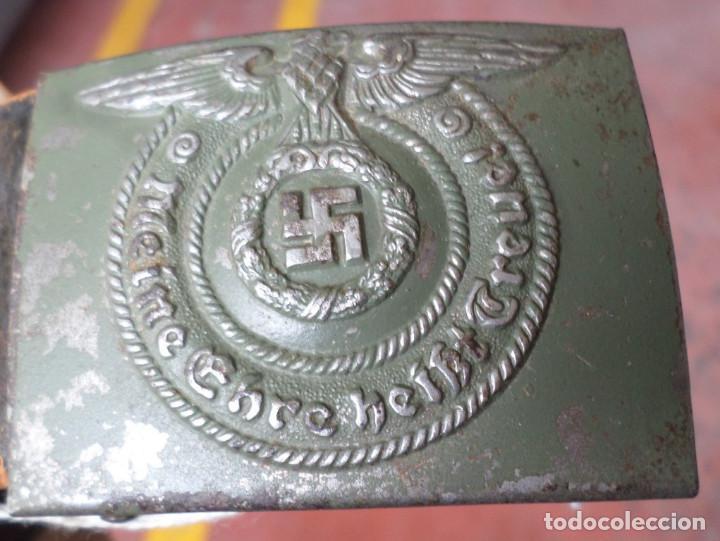 Militaria: Cinturón 2ª GM – SS .. Hebilla marcajes (ver fotos) - Foto 7 - 45462684
