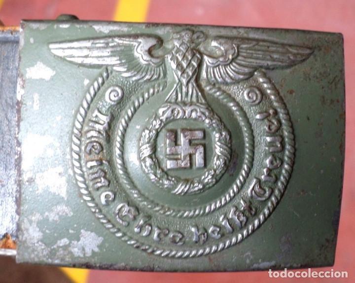 Militaria: Cinturón 2ª GM – SS .. Hebilla marcajes (ver fotos) - Foto 8 - 45462684
