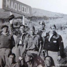 Militaria: FOTOGRAFÍA SARGENTOS PROVISIONALES DEL EJÉRCITO NACIONAL. MAQUEDA 1938. Lote 200129913
