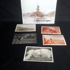 Militaria: LOTE DE 6 FOTOGRAFIAS DEL DESTRUCTOR ROGER DE LAURIA D42 (ARMADA ESPAÑOLA) - AÑO 1970. Lote 200349098