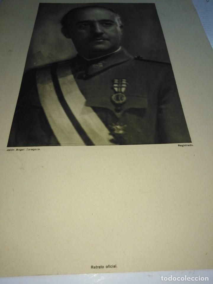 DOS RETRATOS ANTIGUOS , FRANCO Y PRIMO DE RIVERA (Militar - Fotografía Militar - Guerra Civil Española)