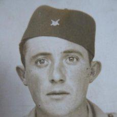 Militaria: FOTOGRAFÍA SOLDADO REGULARES. BOAL 1938. Lote 201152243