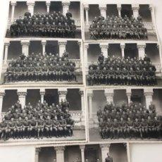Militaria: 7 FOTOGRAFÍAS DIFERENTES PROMOCIONES DE TENIENTES PROVISIONALES ACADEMIA DE INFANTERÍA.. Lote 138225886