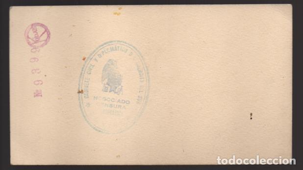 Militaria: SEVILLA, 18 JULIO 1936 - 17 ABRIL 1939.- REVERSO. NEGOCIADO CENSURA FOTOGRAFICA- MIDE: 15 X 8 C.M. - Foto 2 - 202028208