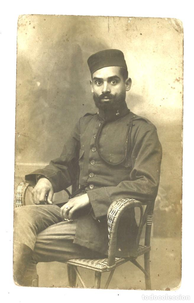 MILITAR ESPAÑOL EN LARACHE, 1917 (Militar - Fotografía Militar - Otros)