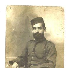 Militaria: MILITAR ESPAÑOL EN LARACHE, 1917. Lote 202651887
