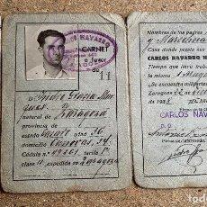 Militaria: CASA CARLOS NAVARRO HERRANZ . ZARAGOZA . FRANCO . GUERRA CIVIL . 1938 .. Lote 202696992