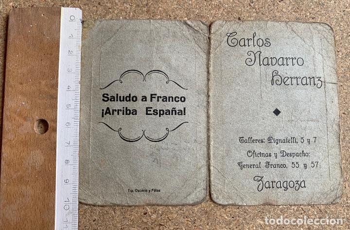 Militaria: CASA CARLOS NAVARRO HERRANZ . ZARAGOZA . FRANCO . GUERRA CIVIL . 1938 . - Foto 2 - 202696992