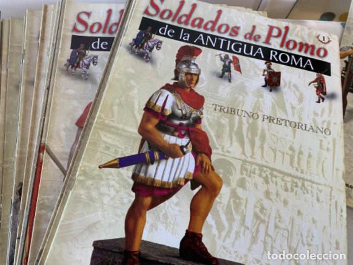 SOLDADOS DE PLOMO DE LA ANTIGUA ROMA (Militar - Fotografía Militar - Otros)