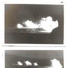Militaria: 1938CA (2) FOTOGRAFIAS ORIGINALES DE BOMBARDEOS GUERRA CIVIL TOMADA POR LA LEGIÓN CONDOR. Lote 202980970