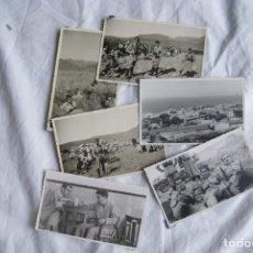 Militaria: NADOR SIDI AMAR MILITARES FOTOGRAFICAS LOTE 6 POSTALES 1954. Lote 203075018