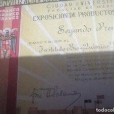 Militaria: DIPLOMA MILITAR AÑOS 1940 MIGUEL SERVET. Lote 203099068
