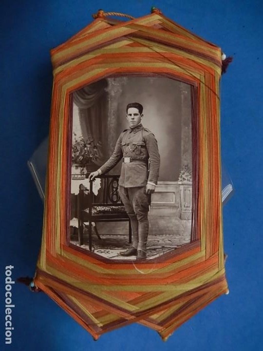 Militaria: Soldado de Infantería Nº 47. Época de Alfonso XIII. En marco artesanal. - Foto 2 - 12175820