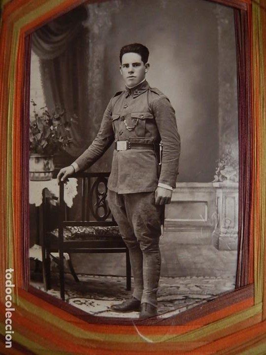 Militaria: Soldado de Infantería Nº 47. Época de Alfonso XIII. En marco artesanal. - Foto 3 - 12175820