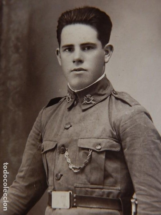 Militaria: Soldado de Infantería Nº 47. Época de Alfonso XIII. En marco artesanal. - Foto 5 - 12175820