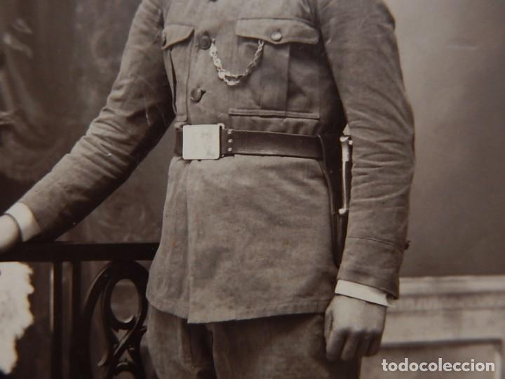 Militaria: Soldado de Infantería Nº 47. Época de Alfonso XIII. En marco artesanal. - Foto 6 - 12175820