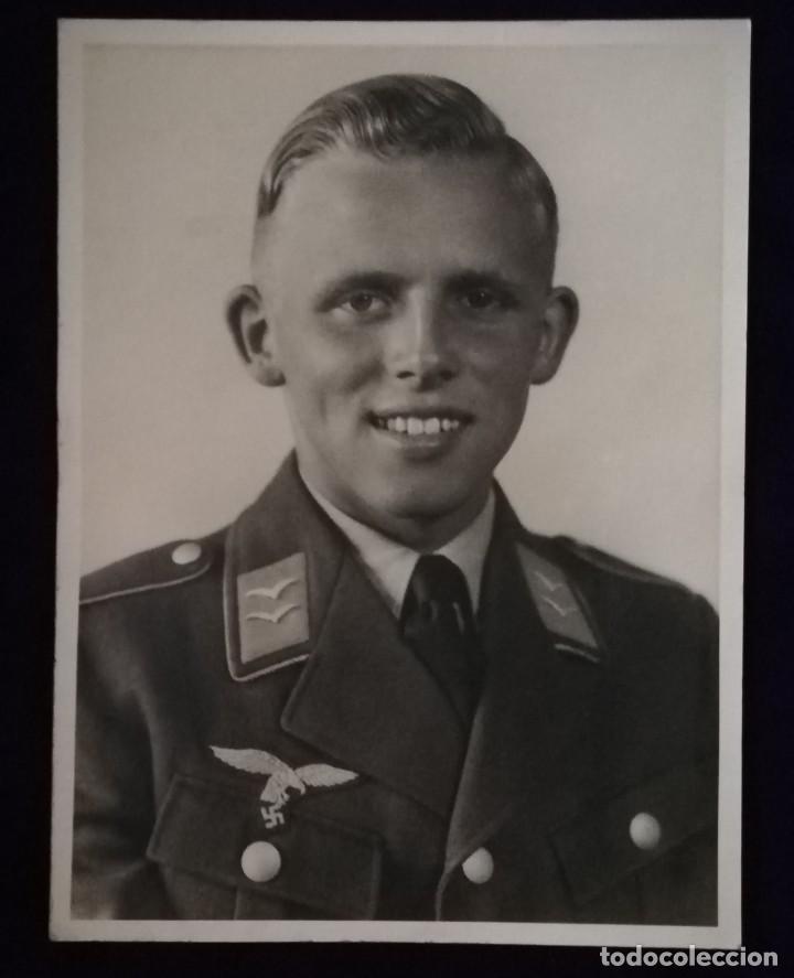 ANTIGUA FOTOGRAFIA SOLDADO ALEMAN, LUTFWAFFE, EPOCA III REICH (Militar - Fotografía Militar - II Guerra Mundial)