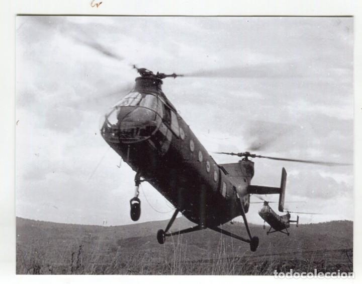 FOTOGRAFIA MILITAR, DOS CHINOOK MEDIDAS 13 X 10 CMS. APROX. SEGUN DESCRIPCION (Militar - Fotografía Militar - Otros)
