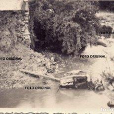 Militaria: FRENTE NORTE PUENTE DESTROZADO FURGONETA CAFES AMERICA PAMPLONA GUERRA CIVIL. Lote 204314367