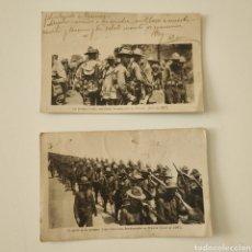 Militaria: WW1 - 2 POSTALES - TROPAS AMERICANAS DESEMBARCADAS EN FRANCIA - POSTAL PRIMERA GUERRA MUNDIAL. Lote 204473022