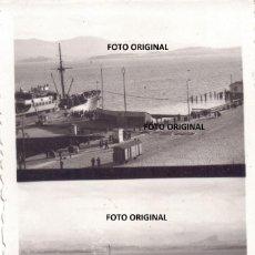 Militaria: FOTO CON DOBLE VISTA PUERTO SANTANDER PLENA GUERRA CIVIL FRENTE NORTE 1937 LEGION CONDOR. Lote 204550081