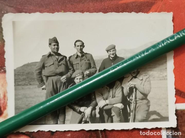 GUERRA CIVIL, ANTIGUA FOTOGRAFIA SOLDADOS DEL BANDO NACIONAL, 85X60MM (Militar - Fotografía Militar - Guerra Civil Española)