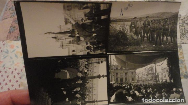 ANTIGUAS 4 FOTOGRAFIAS.HOJA DE CONTACTO DE FOTOGRAFO.PERIODO GUERRA CIVIL. (Militar - Fotografía Militar - Guerra Civil Española)