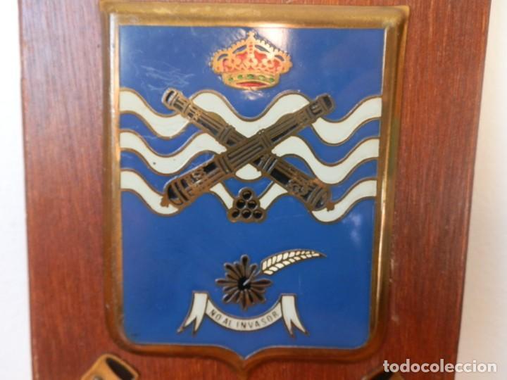 Militaria: PRECIOSA METOPA ANTIGUA DEL DESAPARECIDO Regimiento de Artillería de Campaña nº 22 de Girona. - Foto 2 - 205037620