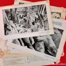 Militaria: GRANOLLERS 1938 GUERRA CIVIL LOTE 11 FOTOS FOTOGRAFIAS IMPRESAS BOMBARDEO DE BARCELONA ORIGINAL. Lote 205143772