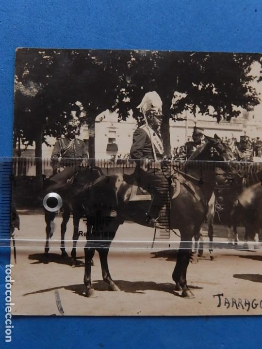Militaria: ES. Fotografía militar. Generales. Tarragona. 1919. - Foto 2 - 205467371