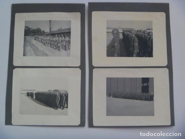 DIVISION AZUL : LOTE DE 4 FOTOS DE MILITARES DE AVIACION, ESCUADRILLA AZUL. UNIFORME ESPAÑOL Y JURA (Militar - Fotografía Militar - II Guerra Mundial)