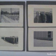 Militaria: DIVISION AZUL : LOTE DE 4 FOTOS DE MILITARES DE AVIACION, ESCUADRILLA AZUL. UNIFORME ESPAÑOL Y JURA. Lote 205525890