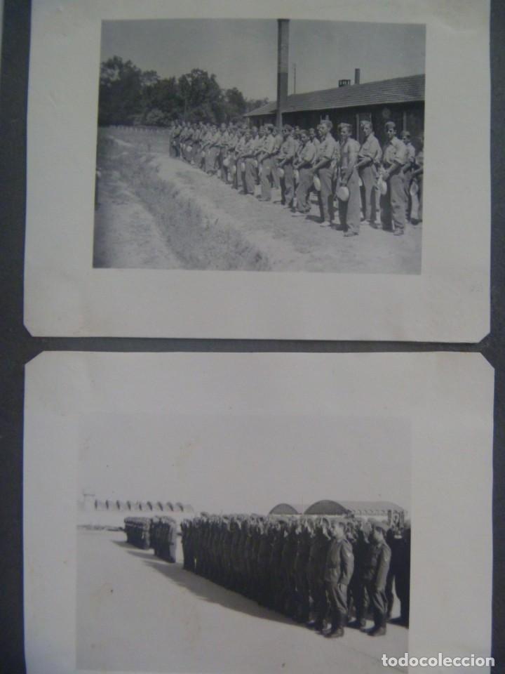 Militaria: DIVISION AZUL : LOTE DE 4 FOTOS DE MILITARES DE AVIACION, ESCUADRILLA AZUL. UNIFORME ESPAÑOL Y JURA - Foto 2 - 205525890