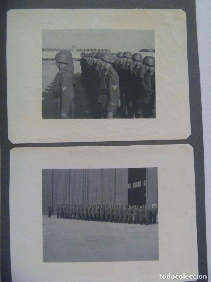 Militaria: DIVISION AZUL : LOTE DE 4 FOTOS DE MILITARES DE AVIACION, ESCUADRILLA AZUL. UNIFORME ESPAÑOL Y JURA - Foto 3 - 205525890