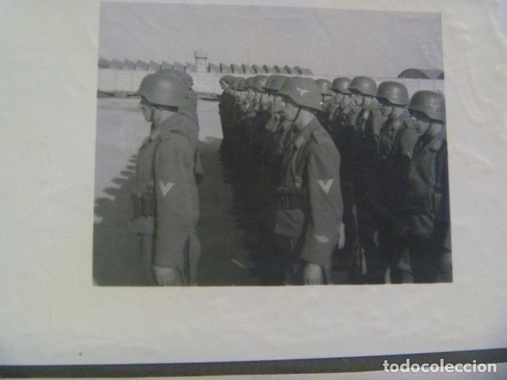 Militaria: DIVISION AZUL : LOTE DE 4 FOTOS DE MILITARES DE AVIACION, ESCUADRILLA AZUL. UNIFORME ESPAÑOL Y JURA - Foto 6 - 205525890