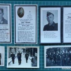 Militaria: LOTE DE 17 RECORDATORIOS DE DECESOS + 7 FOTOGRAFIAS - ALEMANIA TERCER REICH. Lote 205560640