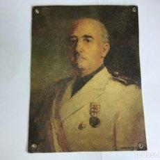 Militaria: ANTIGUO RETRATO DE FRANCISCO FRANCO DE JUAN ANTONIO MORALES. Lote 205727501