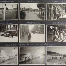 Militaria: SAN SEBASTIAN GUIPUZCOA 1937 GUERRA CIVIL 11 FOTOGRAFIAS POR SOLDADO ALEMAN LEGION CONDOR 6 X 9 CMTS. Lote 205797638