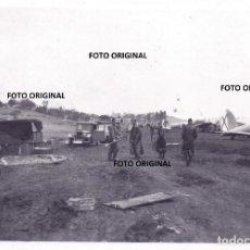 Militaria: PILOTOS LEGION CONDOR AERODROMO VITORIA FRENTE NORTE 1937 GUERRA CIVIL LEGION CONDOR. Lote 205812465